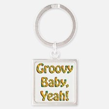 groovy baby Square Keychain