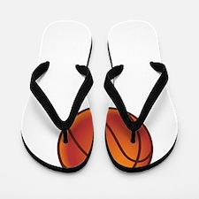 Basketball Court White Flip Flops