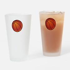 Basketball Court White Drinking Glass