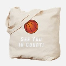 Basketball Court White Tote Bag