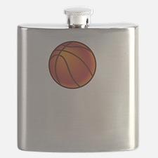 Basketball Court White Flask