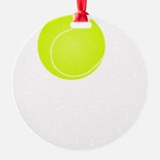 Tennis Court White Ornament