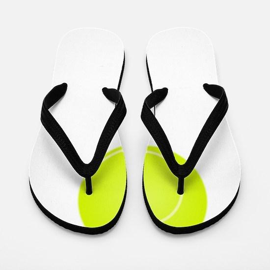 Tennis Court White Flip Flops