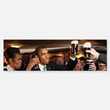 ART Obama ireland toast Bumper Bumper Sticker
