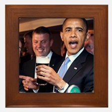 ART obama ireland toast 2 Framed Tile