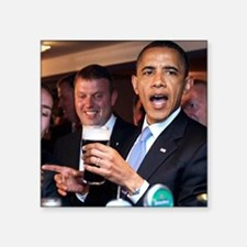 "ART obama ireland toast 2 Square Sticker 3"" x 3"""