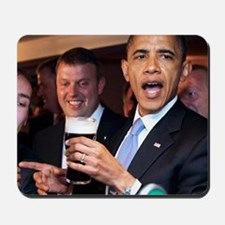 ART obama ireland toast 2 Mousepad