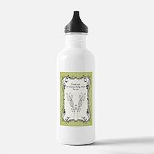 thanks hearts flowers  Water Bottle
