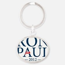 RON PAUL VERTICAL 2012-01 Oval Keychain
