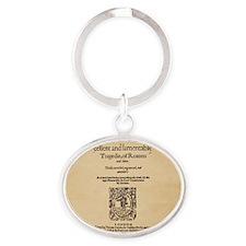 romeoandjuliet-1599-Square-Large Oval Keychain