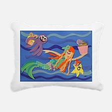 skylers birthday mermaid Rectangular Canvas Pillow
