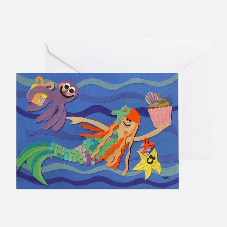 skylers birthday mermaid 052211 Greeting Card