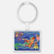 skylers birthday mermaid 052211 Landscape Keychain