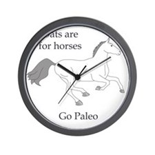Oats are for horses v2 Wall Clock