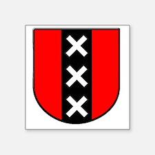 """amsterdam Square Sticker 3"""" x 3"""""""