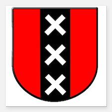 "amsterdam Square Car Magnet 3"" x 3"""