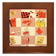 5 and dime Framed Tile