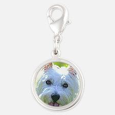 Dandie Dinmont Terrier Silver Round Charm