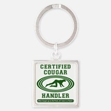 COUGAR_HANDLER_510_H_F Square Keychain