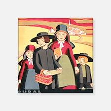 "Amish Square Sticker 3"" x 3"""