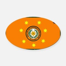 Cherokee national flag 3 Oval Car Magnet
