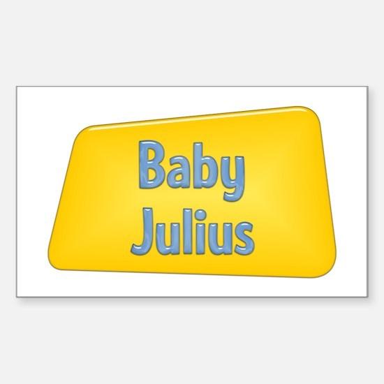 Baby Julius Rectangle Decal