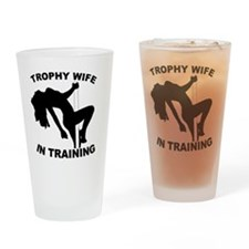 Trophy Wife Drinking Glass
