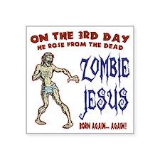 "zombie-jesus-LTT Square Sticker 3"" x 3"""