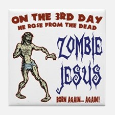zombie-jesus-LTT Tile Coaster