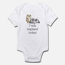 I was baptized today! (girl) Infant Bodysuit