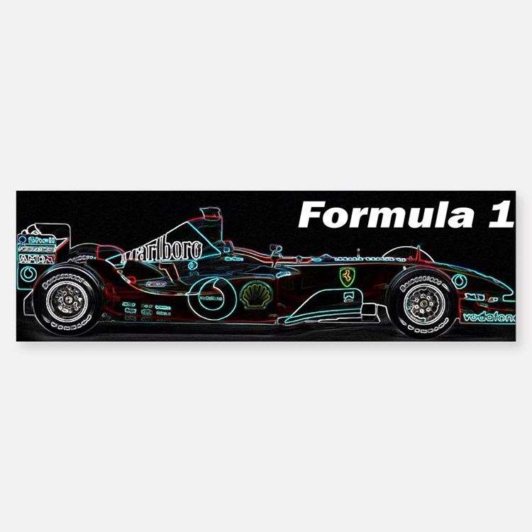 Formula1 Neon Car Sticker (Bumper)