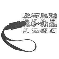 762px-Zodiac_woodcut Luggage Tag