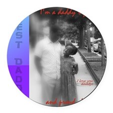 Daddy girl_updated2 Round Car Magnet
