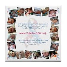cdhvotebabies2 Tile Coaster