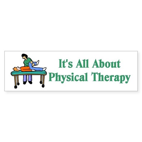 Physical Therapy Bumper Sticker