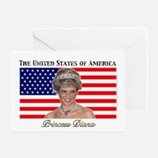 HRH Princess Diana USA. Greeting Card