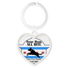 K9 Unit Bare Some Bark Heart Keychain
