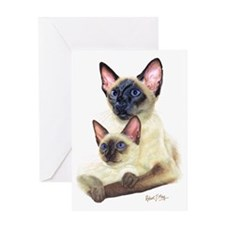 Siamese  Kit Greeting Card