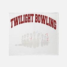 bowling79black Throw Blanket