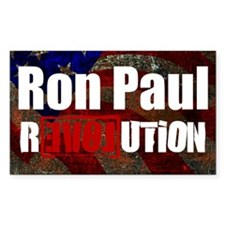 ron paul license plate Decal