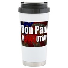 ron paul license plate Travel Mug