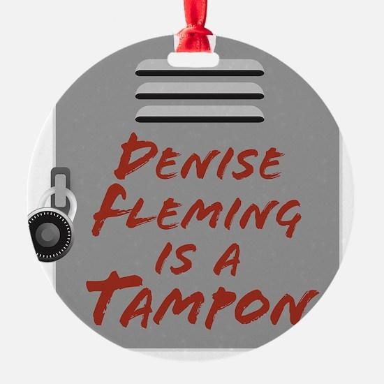 DeniseFlemingBlackTee Ornament
