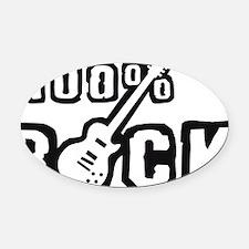 100% Rock B 1c Oval Car Magnet