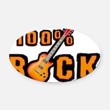 100% Rock Oval Car Magnet