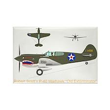 P-40_Co-Pilot_Front_TR Rectangle Magnet
