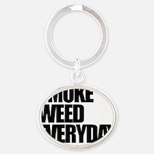 smokeweedeveryday Oval Keychain