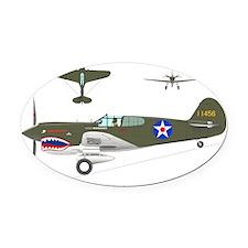 P-40_Co-Pilot_Front Oval Car Magnet