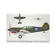 P-40_Co-Pilot_Front Rectangle Magnet