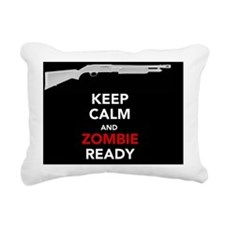 Keep Calm and Zombie Rea Rectangular Canvas Pillow