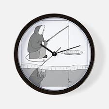 Ice Fishing Wall Clock